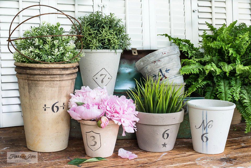 Transform any pot into a lovely vintage crock numbered planter!